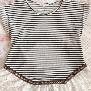 Scrapbook Lace and Striped Shirt
